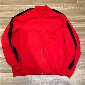 Polo Ralph Lauren men red zip up size XL
